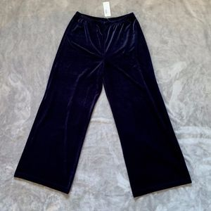 Chico's Midnight Blue Wide Leg Velvet Pants
